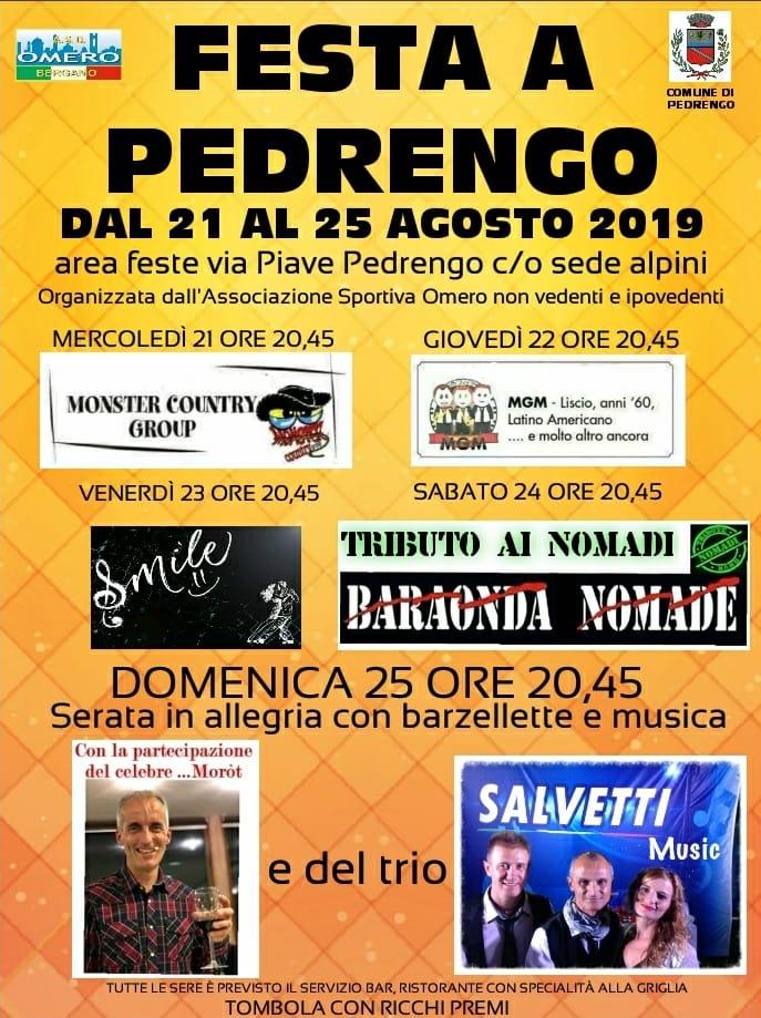 locandina festa pedrengo 2019