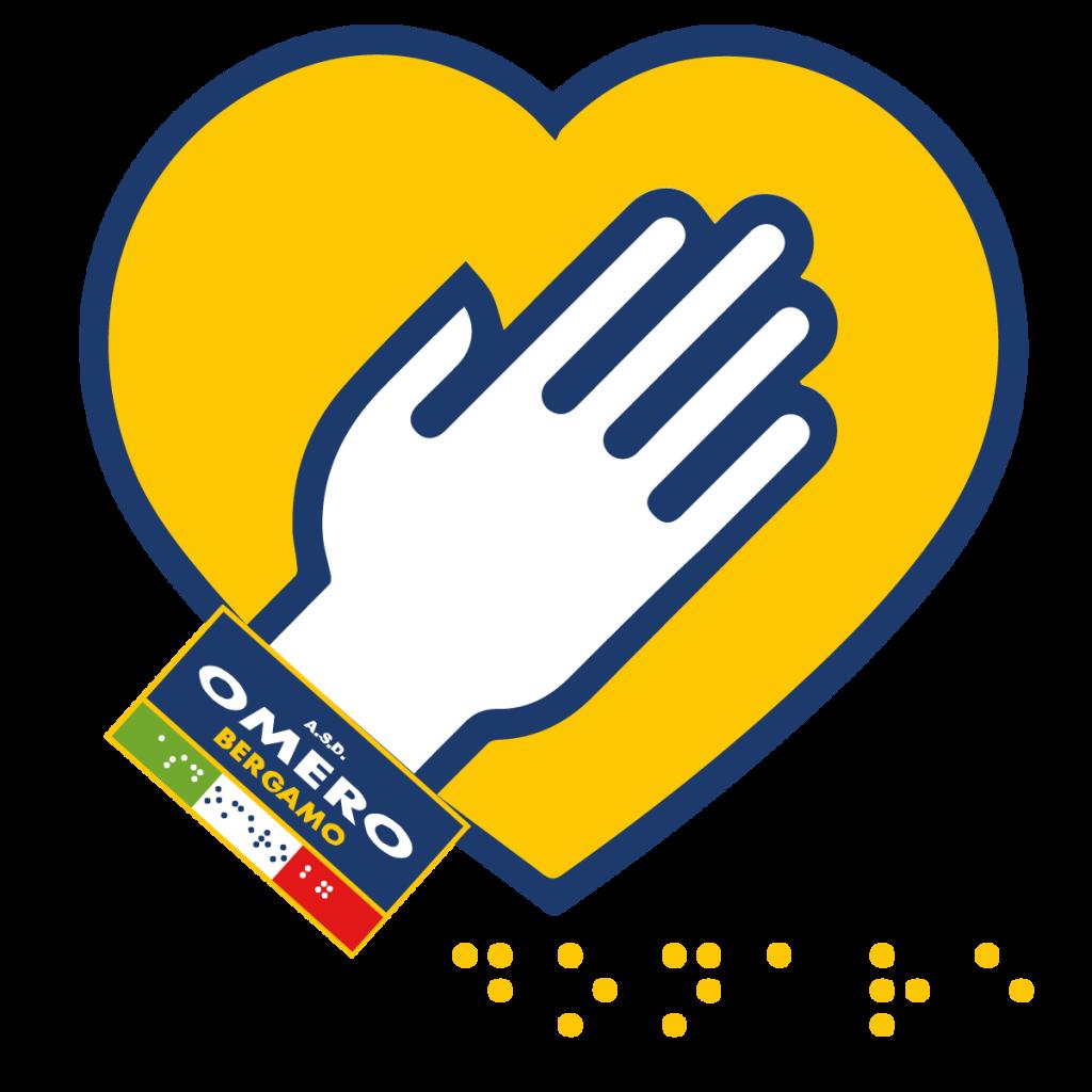 grafica con logo e cuore per donazioni